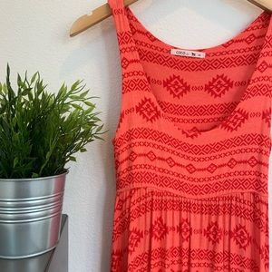 Dresses & Skirts - Orange tribal dress
